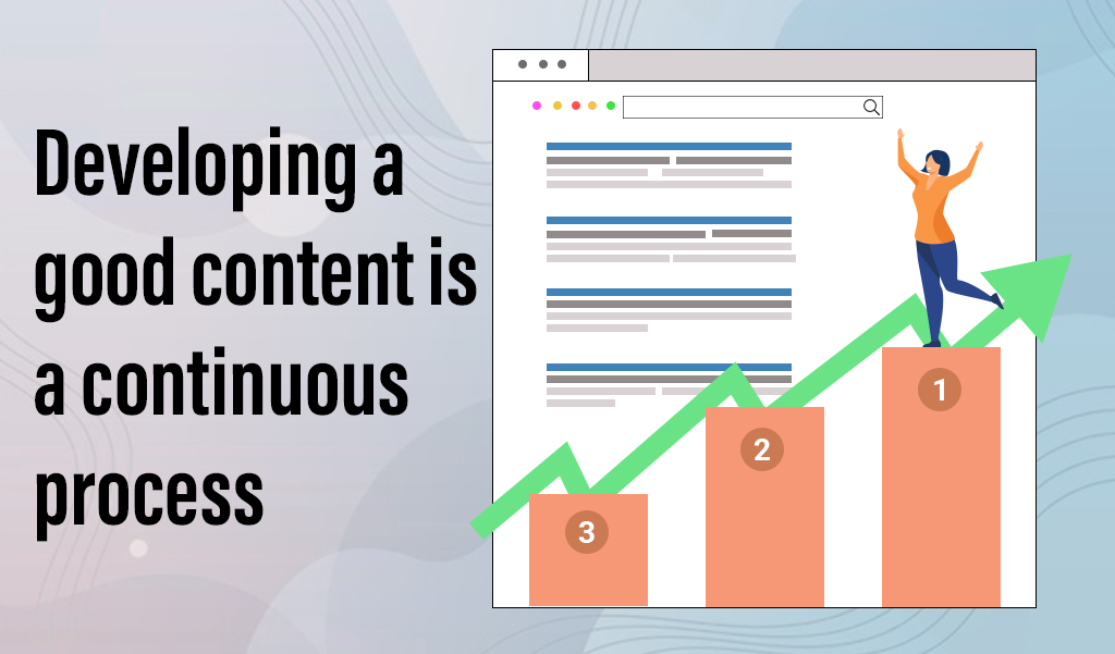 Developing good content is a Continuous process - jacksonville seo