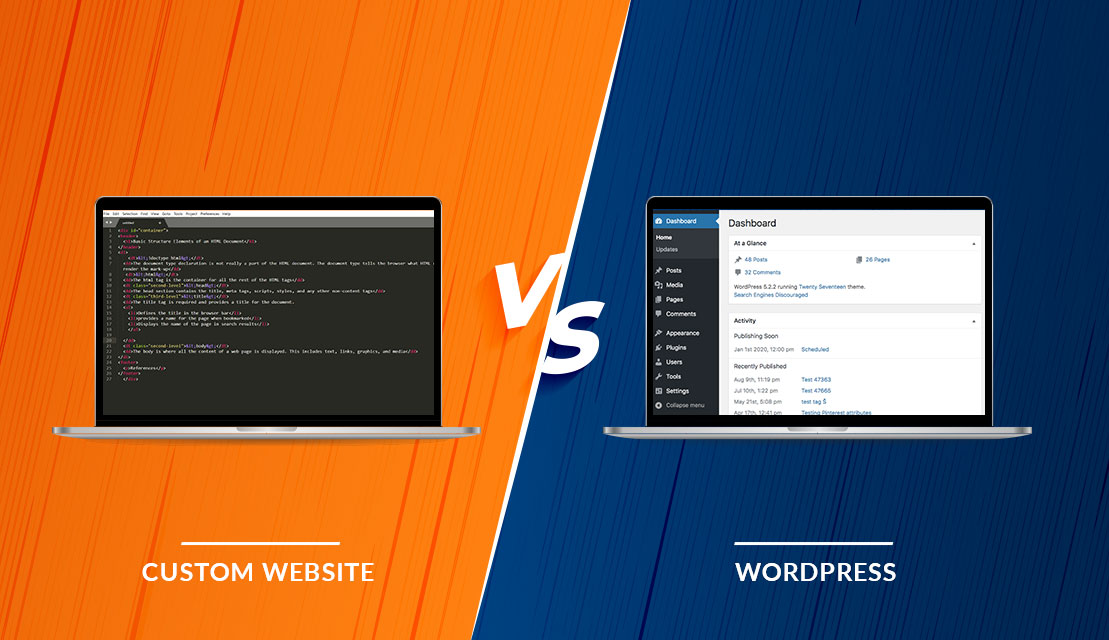 How to pick between custom Web Development Vs WordPress?