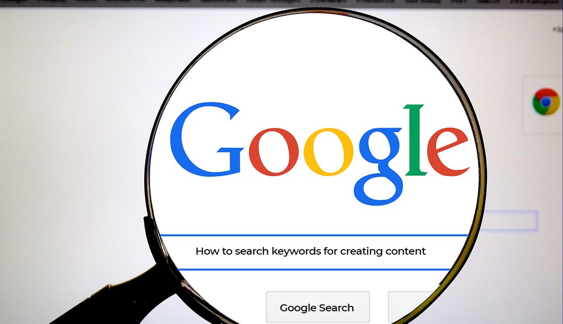 How to search keywords for creating content?