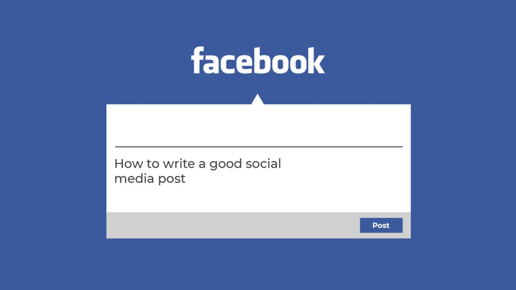 How to write a social media post