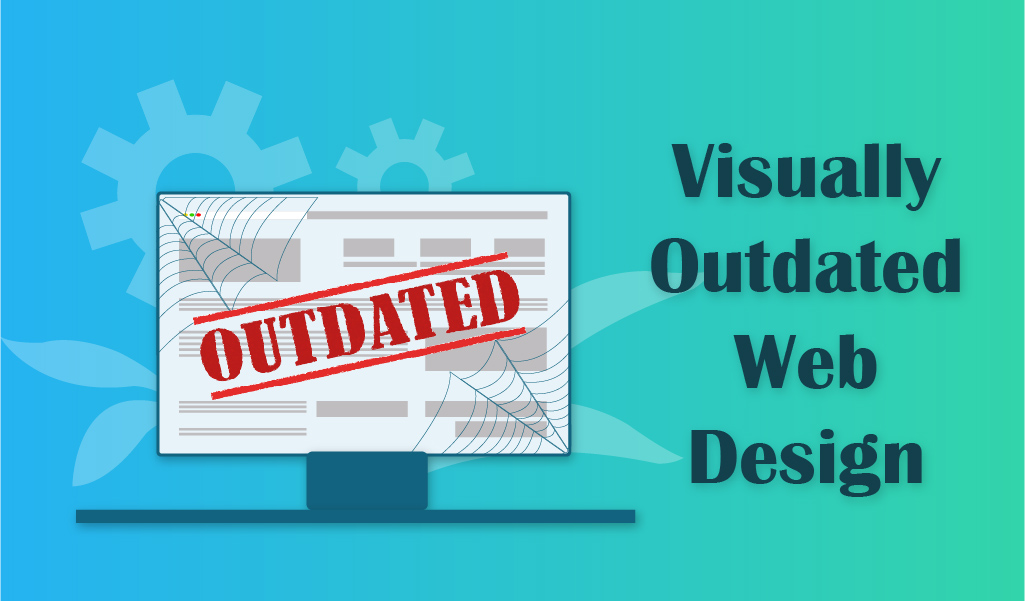Visually outdated website - web design jacksonville
